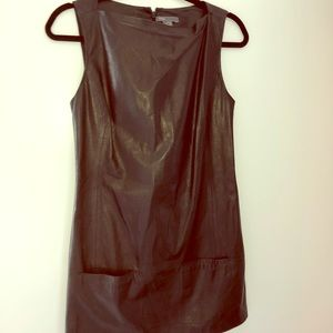 Vince Black Leather Tunic